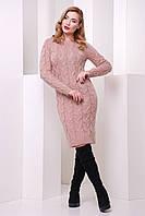 Женское зимнее вязаное платье Лилу 42–48р. в расцветках