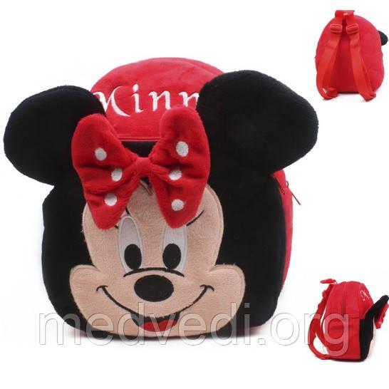 Плюшевый рюкзак для девочки Минни Маус