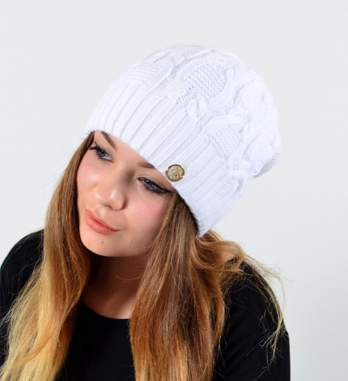 """Женская шапка Nord """"Соня"""" Белый"""