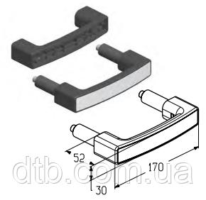 Ручка HGI006 для секционных гаражных ворот ролет Alutech