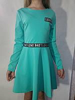 Платье нарядное мятное для девочки р.146-158 Украина