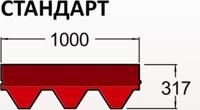 Премиум сбс-модифицированная черепица roofshield (Стандарт 13 синий