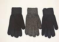Мужские перчатки вязка (трикотаж) одинарные с начесом