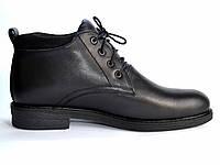 Кожаные зимние мужские ботинки черные Rosso Avangard Bonmarito Grafit Black, фото 1