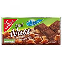 Немецкий молочный шоколад Edeka Edel Nuss Киев 200g