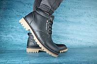 Мужские зимние ботинки с нат.кожи на меху Hilfiger Синие размеры: 40 41 42 43 44 45