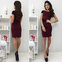 Красное платье с кружевными рукавами, фото 3