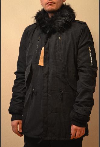 Мужская зимняя длинная парка куртка велюр Европейская зима