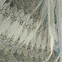 Тюль с вышивками разного цвета, фото 1
