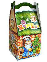 """Новогодняя Упаковка """"Хатка зелена"""" 500-700г для подарков"""