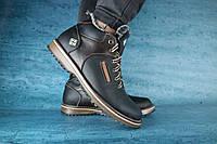 Мужские зимние ботинки с нат.кожи на меху Columbia Черный\Коричневый размеры: 40 41 42 43 44 45