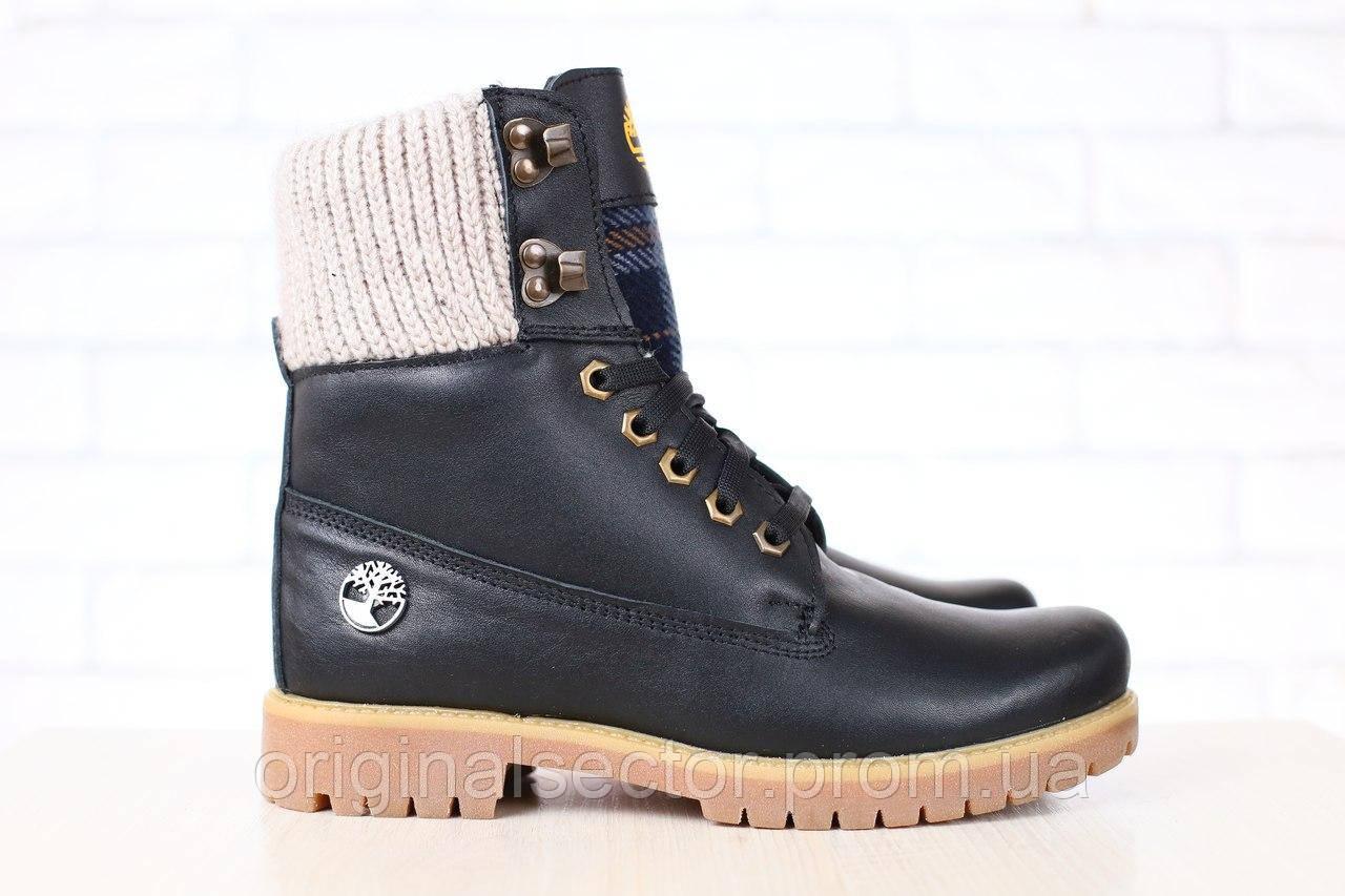 0baea56f51f6 Женские зимние ботинки TimberLand черные - интернет-магазин