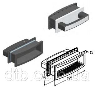Ручка врезная утопленная HGI007 Alutech для ворот роллет секционных гаражных и промышленных