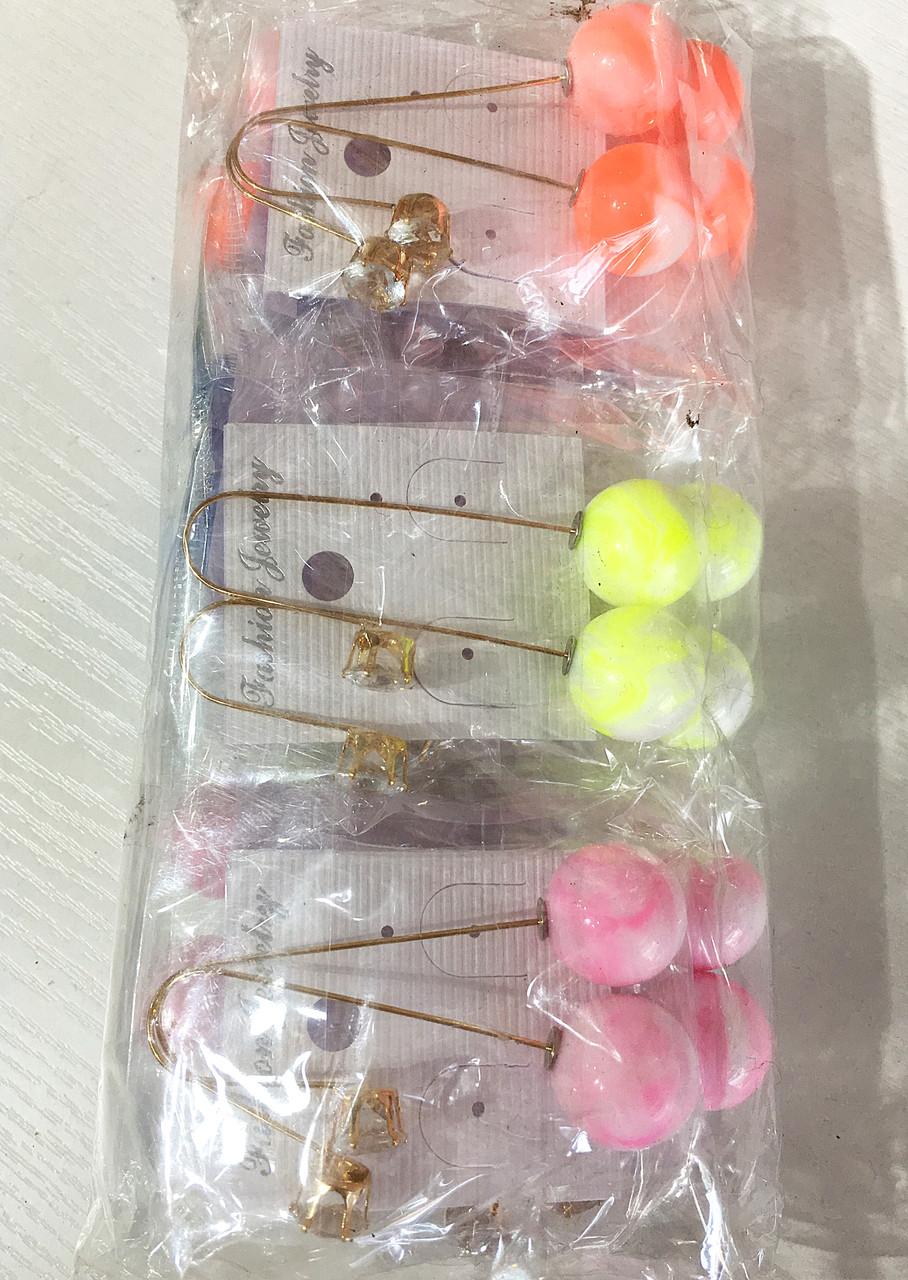 Серьги пуссеты за наушник висячие матовые( 12 пар)