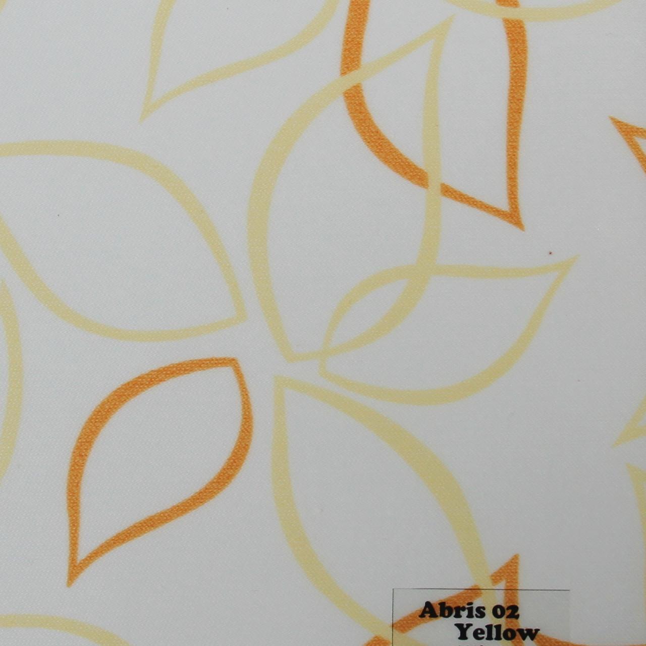 Рулонні штори Одеса Тканина Abris 02 Yellow