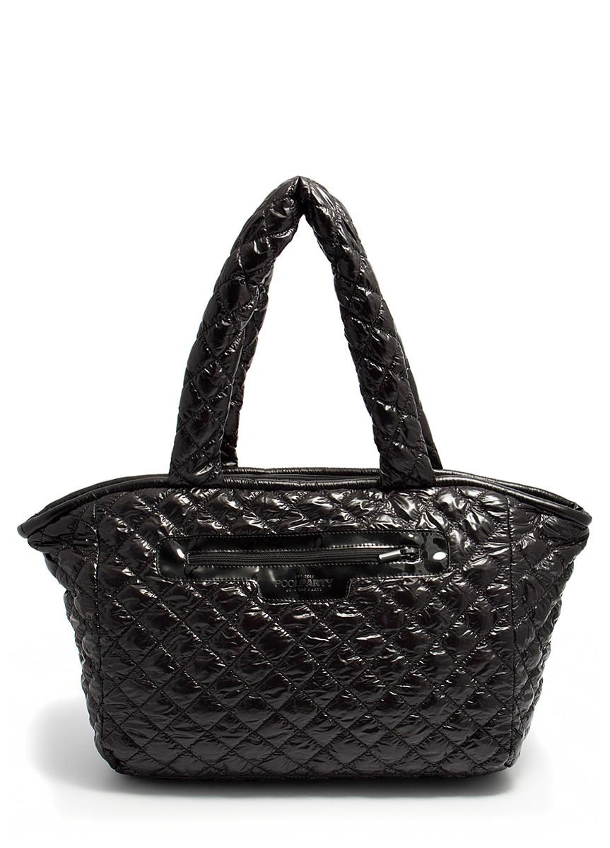 Стеганая сумка из ткани POOLPARTY Cocoon black