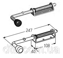 Засов SB0100 для секционных гаражных ворот ролет Alutech