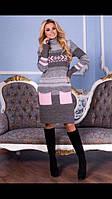 Женское вязаное платье Мулине