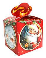 """Новорічна Упаковка """"Бант Червоний"""" 13х13см для подарунків 700г, фото 1"""