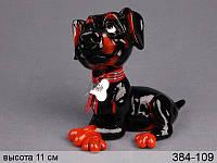 Фигурка декоративная Собака Диззи керамическая 11 см серия Собаки 384-109
