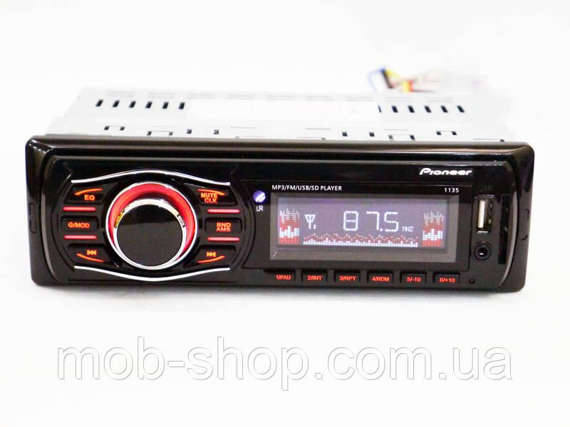 Автомагнитола пионер Pioneer 1135 MP3+Usb+Sd+Fm+Aux+пульт (4x50W)
