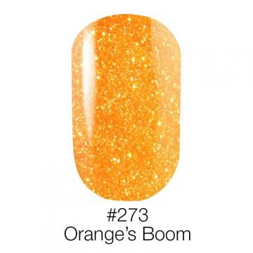 ГЕЛЬ-ЛАК ДЛЯ НОГТЕЙ НАОМИ 6ML NAOMI GEL POLISH 273 неоновый оранжевый с глиттером