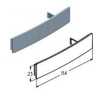Крышка ригельного замка RLG003.226. для секционных гаражных ворот ролет Alutech