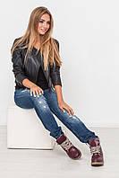 Стильные женские бордовые ботинки из натуральной кожи  KOMFORT .