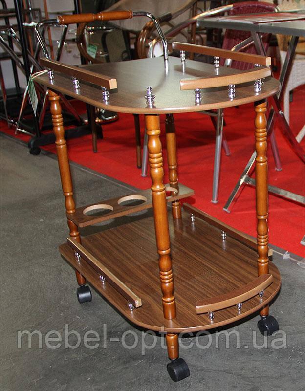 сервировочный столик Sc 5512 деревянная сервировочная тележка орех цена в киеве