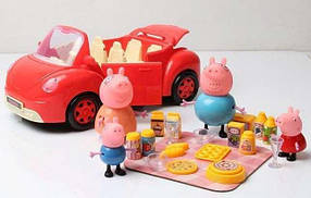 Машинка свинка Пеппа Peppa pig с фигурками TM 8818 без посуды