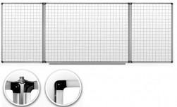Купить Доска маркерная в клетку 5х5 см.клетку с 5 рабочими поверхностями. Размер 100x300 см., UkrBoards
