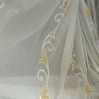 Тюль шифон Золотая лилия, фото 1