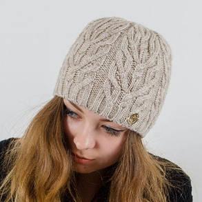 """Вязаная женская шапка """"Rozmari"""", фото 2"""