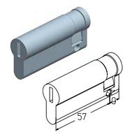 Цилиндровый механизм C-9/57 для замка ворот ролет Alutech