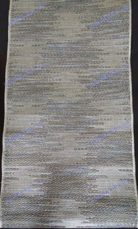 Безворсовый ковер-рогожка Balta Prisma мозаика с полосой бежевый