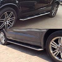 Модельные боковые пороги Audi Q3 2011+ г.в. Ауди кью3