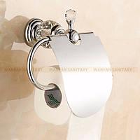 Держатель для туалетной бумаги нержавейка с кристаллами сваровски