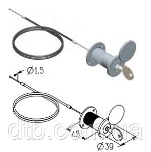 Комплект механизма разблокировки для ворот ролет гаражных Alutech RM0104-4500