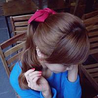 Стильные яркие банты для волос в красном черном бордовом цветах заколки