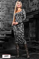 Платье 12-2377 -  черный: S М L XL