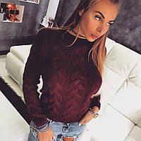 Модный женский теплый свитер