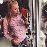 Нежный женский теплый свитер