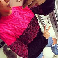 Зимний шерстяной свитер