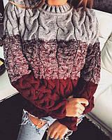 Молодежный зимний шерстяной свитер