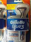 Станок Gillette Blue 3 + 4 сменных кассеты