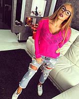 Стильный женский свитер Ромб