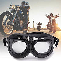 МОТО ОЧКИ ХРОМ RED BARON авиатор Aviator-Style Red Baron Motorcycle Riding Goggles Stainless Steel Frames Helm