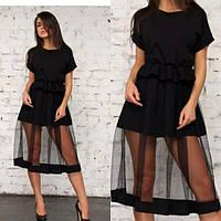 Очень стильное платье из ткани джерси