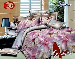 Комплект постельного белья Офелия с компаньоном полуторный (TAG-243)