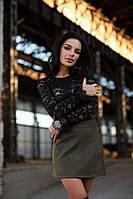 Кружевная блуза черного цвета